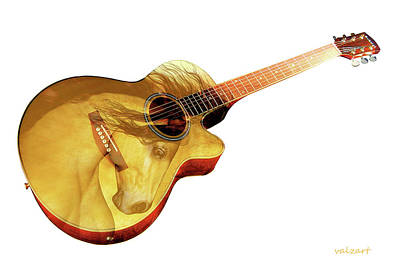 Digital Art - The Guitar Is A Lady by Valerie Anne Kelly