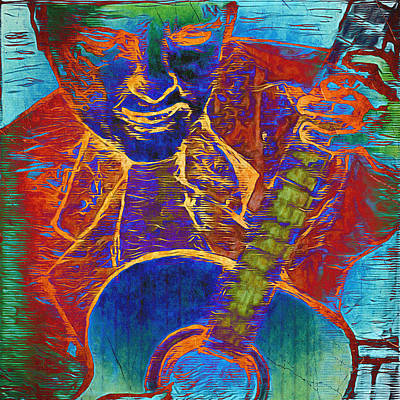 Mixed Media - The Guitar Man - Two by Glenn McCarthy Art and Photography