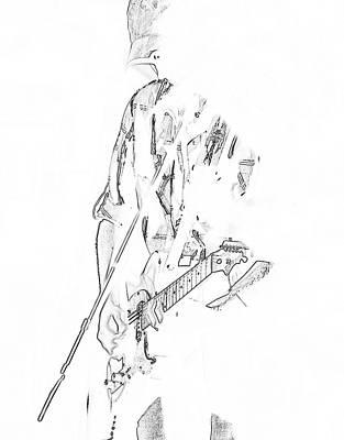 Guitar Player Digital Art - The Guitar Player by David Lee Thompson