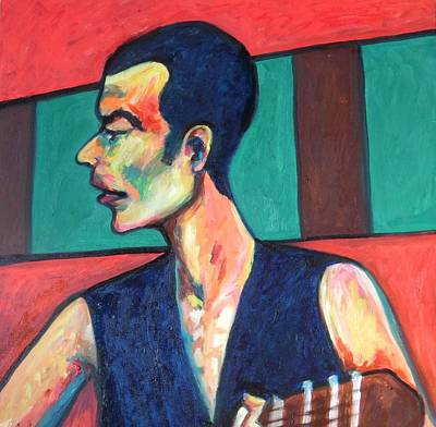Painting - The Guitar Player by Esther Newman-Cohen