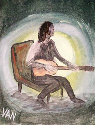 Painting - The Guitar Player by Van Winslow