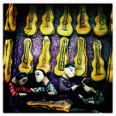 Photograph - The Guitar Shop by Anne Thurston