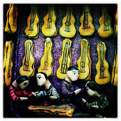 Photograph - The Guitar Shop by Anne Thurston