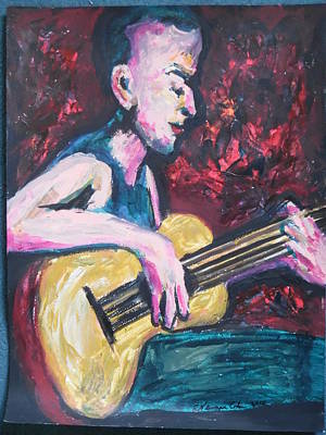Painting - The Guitarist by Esther Newman-Cohen