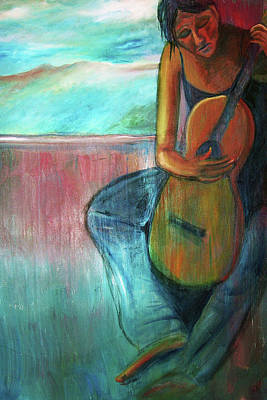 Painting - The Guitarist by Frank Botello