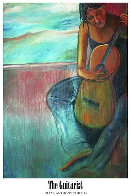 Painting - The Guitarist II by Frank Botello