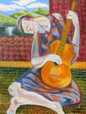 The Guitarist Art Print by John Keaton