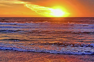 Photograph - The Gulf At Sunset by HH Photography of Florida