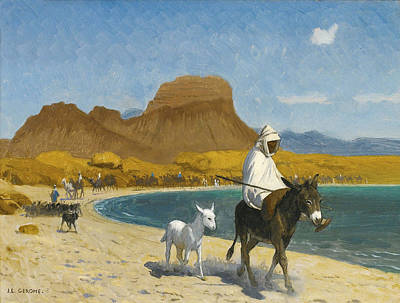 Jean-leon Gerome Painting - The Gulf Of Aqaba by Jean-Leon Gerome