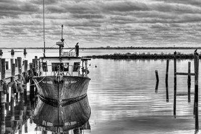 Photograph - The Gulf Queen Bw by JC Findley