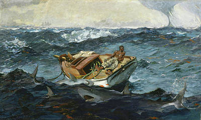Sharks Painting - The Gulf Stream By Winslow Homer 1899 by Movie Poster Prints