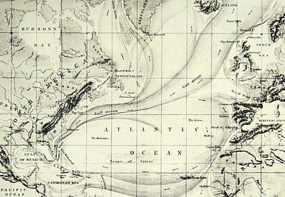 The Gulf Stream Of The Atlantic Ocean Art Print