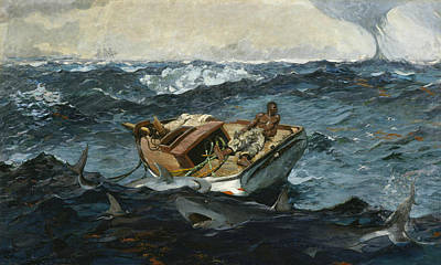 Shark Painting - The Gulf Stream by Winslow Homer