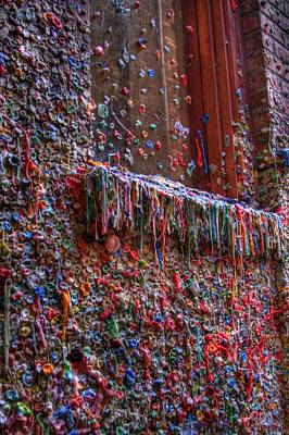 Photograph - The Gum Wall - Seattle by David Patterson