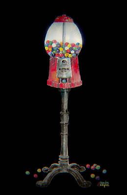 The Gumball Machine Art Print by Arline Wagner