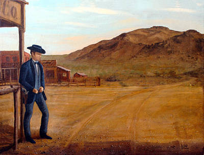 Painting - The Gunfighter by Evelyne Boynton Grierson