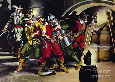 Terrorism Painting - The Gunpowder Plot by Ron Embleton