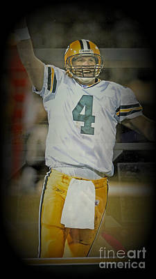 Photograph - The Gunslinger Brett Favre by Kay Novy