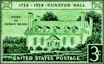 Medieval Style Painting - The Gunston Hall Stamp by Lanjee Chee