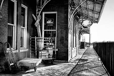Photograph - The Guthrie Santa Fe Depot by Lana Trussell