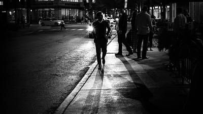 35mm Photograph - The Guy - Chicago, United States - Black And White Street Photography by Giuseppe Milo