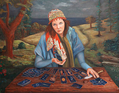 The Gypsy Fortune Teller Art Print by Enzie Shahmiri
