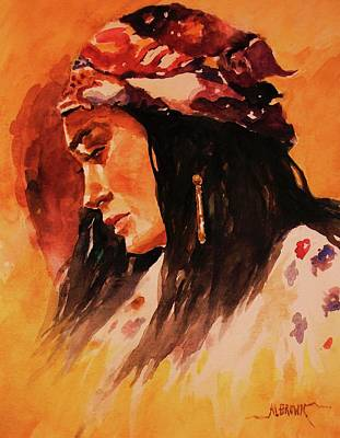 Painting -  Gypsy Girl by Al Brown