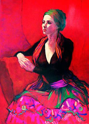 The Gypsy Skirt Art Print by Roz McQuillan