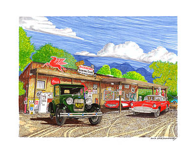 Painting - Hackberry General Store by Jack Pumphrey