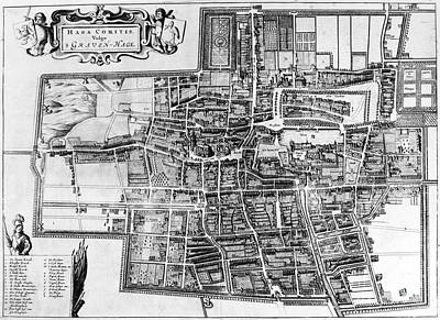 Photograph - The Hague: Map, C1650 by Granger