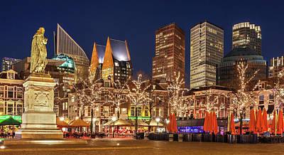 Photograph - The Hague Skyline From The Plein by Barry O Carroll