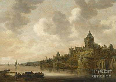 1596 Painting - The Haguethe Valkhof At Nijmegen by MotionAge Designs