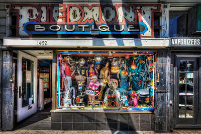 The Haight - Piedmont Boutique Store Front - San Francisco Art Print by Jennifer Rondinelli Reilly - Fine Art Photography
