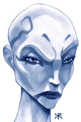 The Hairless Harpy Aka Asajj Ventress Print by Christopher Robin
