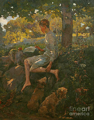 Freedom Painting - The Half Holiday by Elizabeth Adela Stanhope Forbes