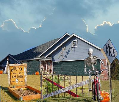 Photograph - The Halloween Yard by Janette Boyd