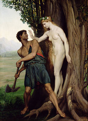 Emile Painting - The Hamadryad by Emile Bin