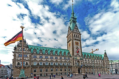 Photograph - The Hamburg Rathaus by Pravine Chester