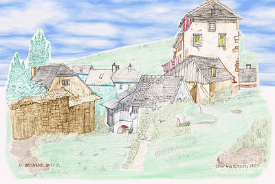 Digital Art - The Hamlet Color by Donna Munro
