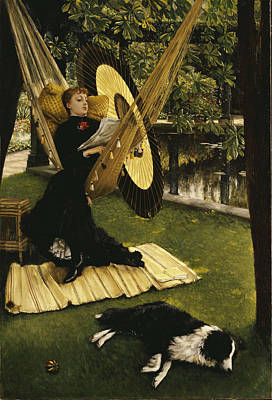 Chestnut Painting - The Hammock by James Jacques Joseph Tissot