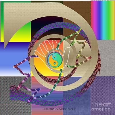 Digital Art - The Hand 1 by Rizwana Mundewadi