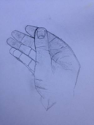 Pucker Up - The hand from the light behind the universe by Contemporary Michael Angelo