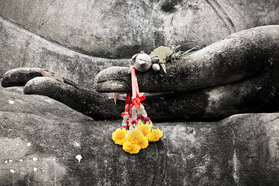 Wat Photograph - The Hand Of Buddha by Adrian Evans