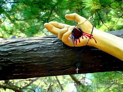 Digital Art - The Hand Of Christ by Ed Weidman