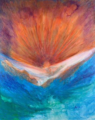 Painting - The hand of faith by Arna Vodenos