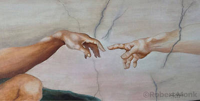 Painting - The Hand Of God by Robert Monk