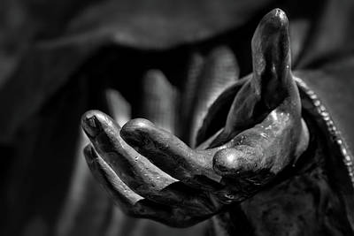 Deconstructed Photograph - The Hand Of Saint Francis by Stuart Litoff