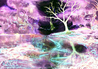 Painting - The Hanging Tree Inverted by Reed Novotny