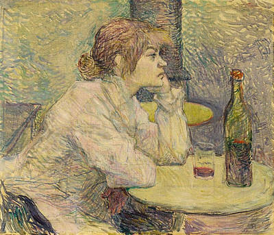 Drinking Painting - The Hangover, Suzanne Valadon by Henri de Toulouse-Lautrec