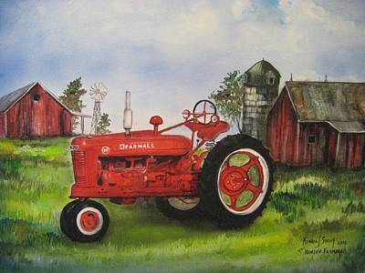 Painting - The Hansen Tractor by Kendra Sorum